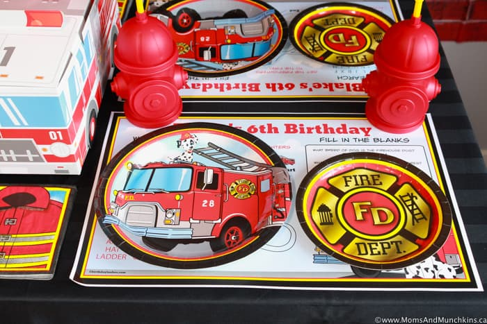 Firefighter Party Table