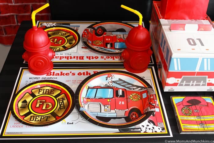 Firemen Party Table