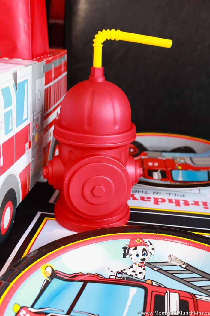 Fireman Party Table