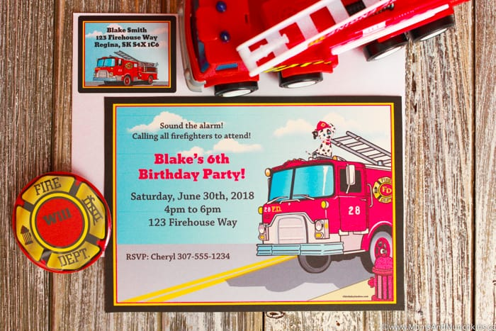 Fireman Party Invitation