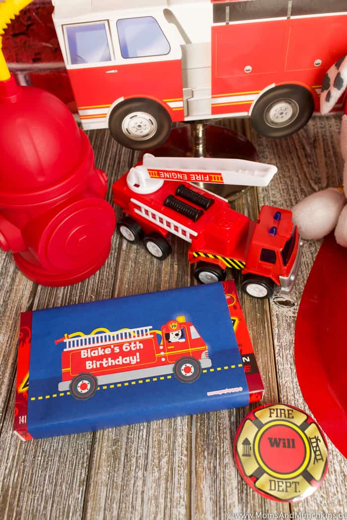 Firefighter Birthday Party Favors