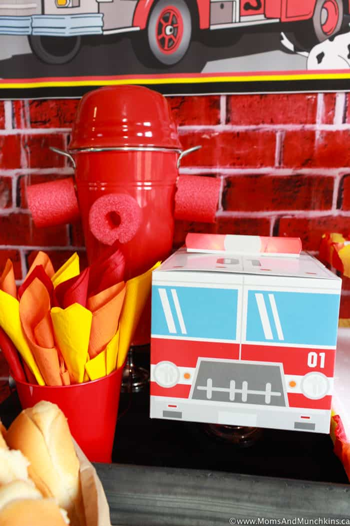 Firefighter Birthday Decorating Ideas