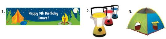 Camping Party Ideas - Decor