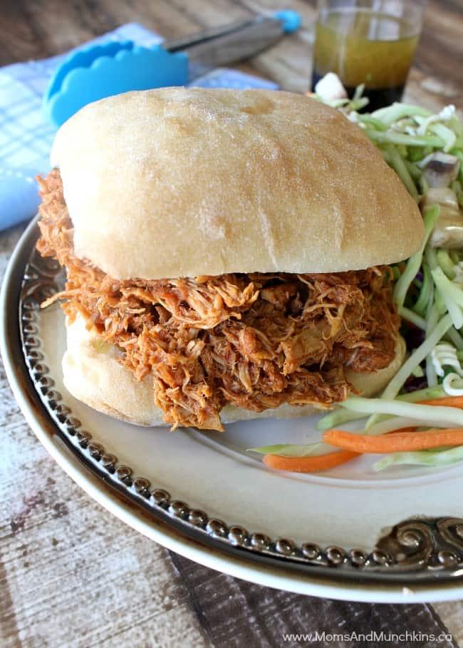 Pulled Chicken Sandwich - Best Of Bridge Slow Cooker Cookbook Review