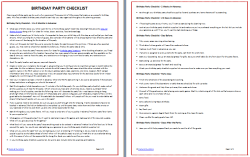 Birthday Party Checklist Template from www.momsandmunchkins.ca