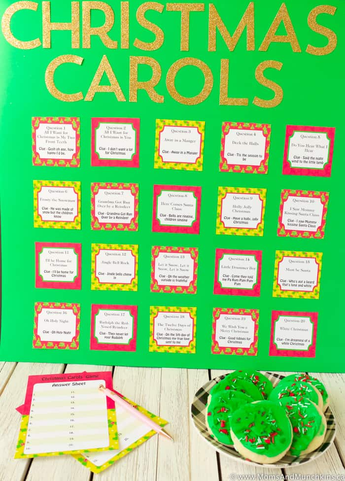 Free Printable Christmas Carols Game