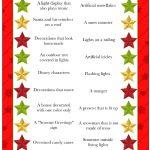 Christmas Light Scavenger Hunt Game - Free Printable