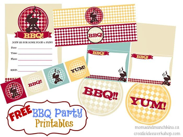 Bbq Party Printables Freebies Moms Amp Munchkins