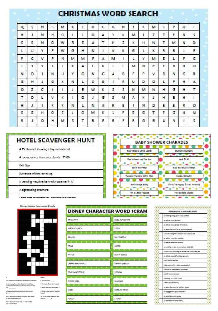 Printable Games for the Entire Family - Moms & Munchkins