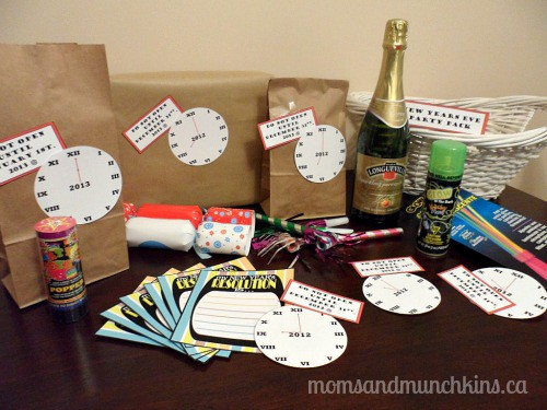 New Year's Eve Activities for Kids - Basket