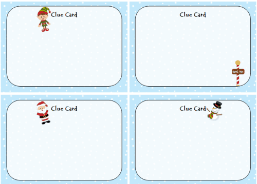 Holiday Scavenger Hunt Cards