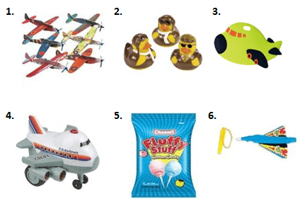 Aviation Birthday Treat Bags