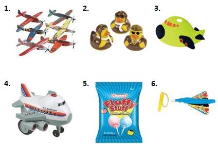 Aviation Birthday Treat Bags