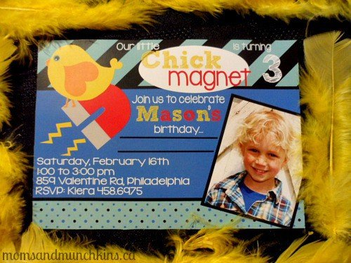 Chick Magnet Party Invitations
