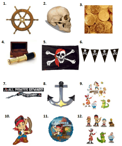 Jake and the Never Land Pirates Party - Decorations