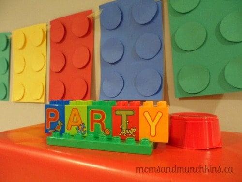 LEGO DUPLO Party Setup