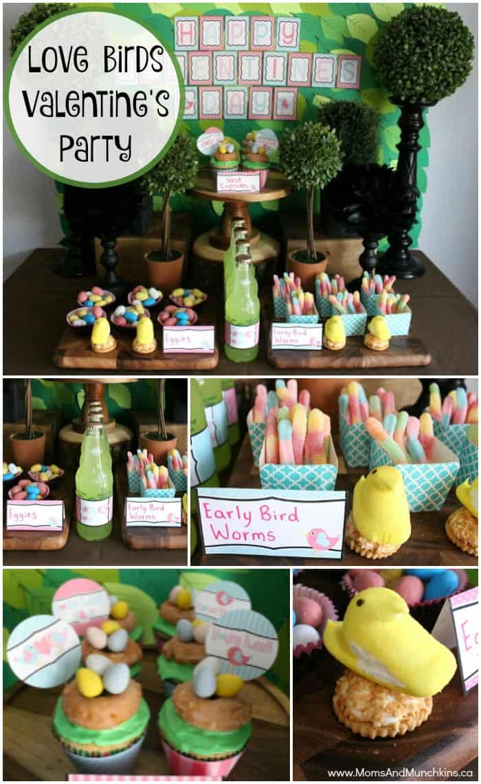 Love Birds Valentine's Day Party Ideas including Free Printables