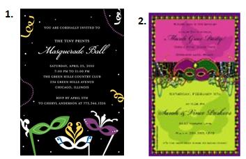 Masquerade Ball Dance - Invitations