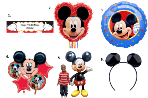 Mickey Mouse Party - Decor