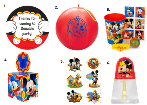 Mickey Mouse Party - Favors