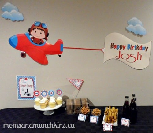 Prepare For Takeoff Airplane Birthday Party Ideas