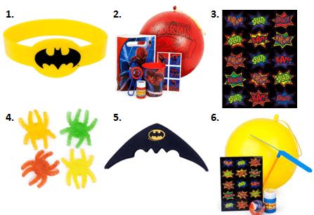 Superhero Party Favor Ideas