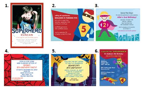 Superhero Party Invitation Ideas