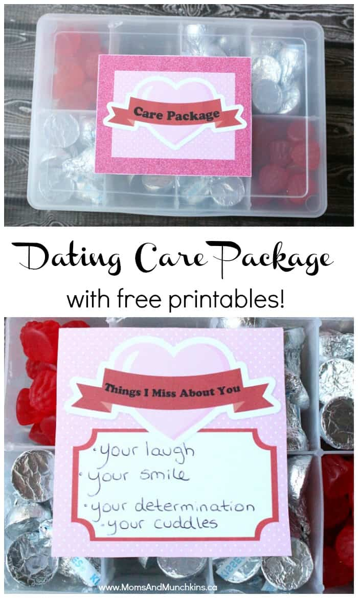 Long Distance Dating Care Package with Free Printables
