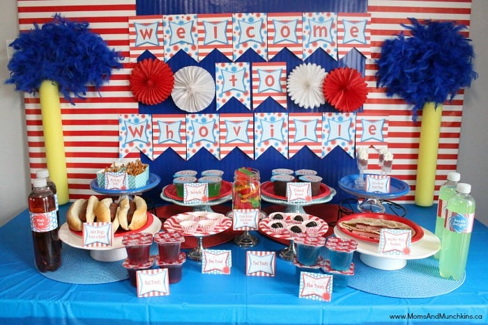 Dr Seuss Birthday Party Ideas Moms Munchkins