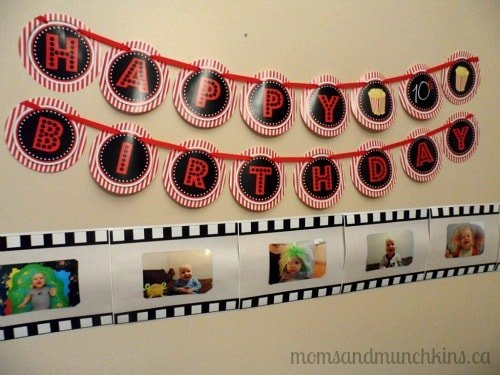 Drive-In Movie Birthday Party Banner