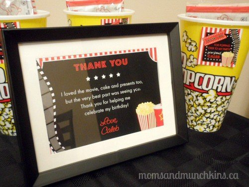 Drive In Movie Birthday Party Invites