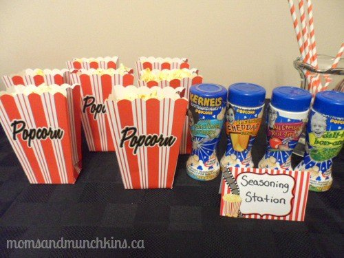 Drive-In Movie Birthday Party Snacks