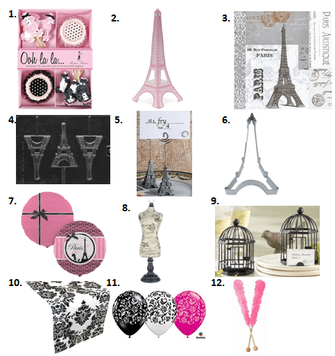 Paris Baby Shower Affiliate