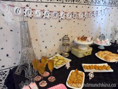 Paris Baby Shower Ideas - Moms & Munchkins