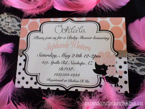 Paris Baby Shower Ideas - Moms & Munchkins