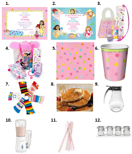 Pancake and Pajama Party Supplies