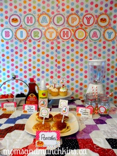 Pancake and Pajama Party Display