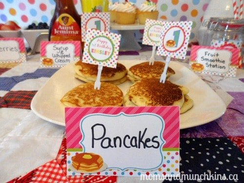 Pancake and Pajama Party Food