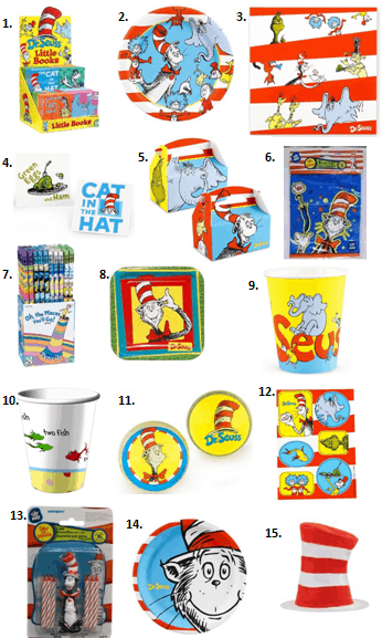 Dr. Seuss Birthday Party Supplies