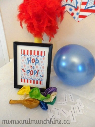 Dr. Seuss Birthday Party Games Pop