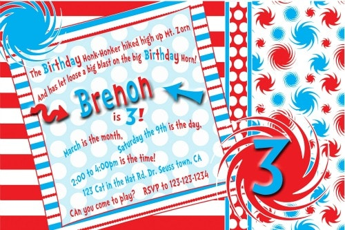 Dr. Seuss Birthday Party Invite