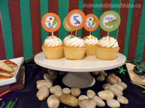 Swamp Party Cupcakes