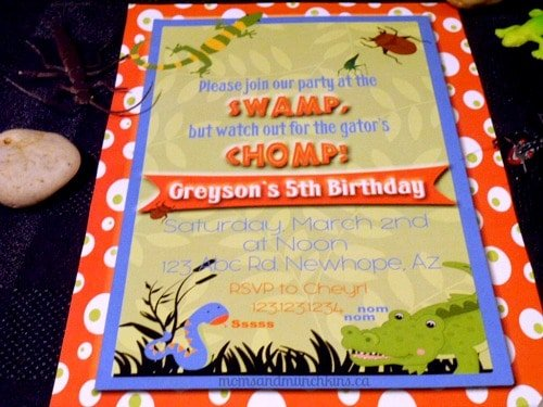 Swamp Party Invitations