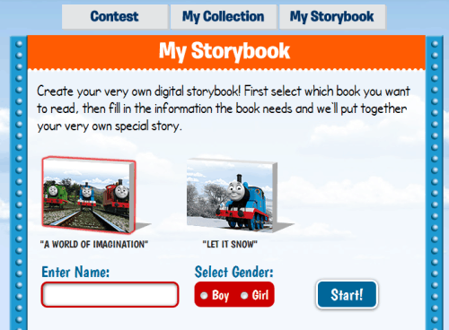 Thomas and Friends E-Story Site