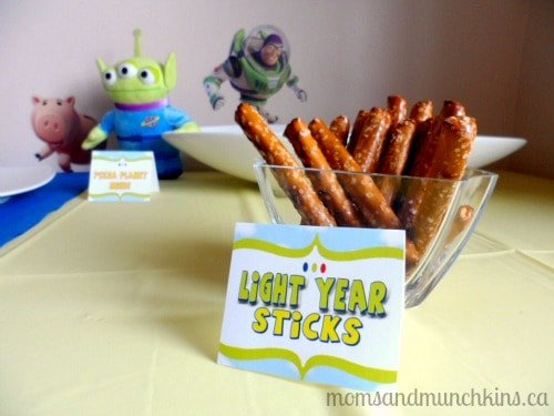 Toy Story Party Food Labels