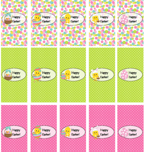 Free Easter Printables - Mini Wrappers