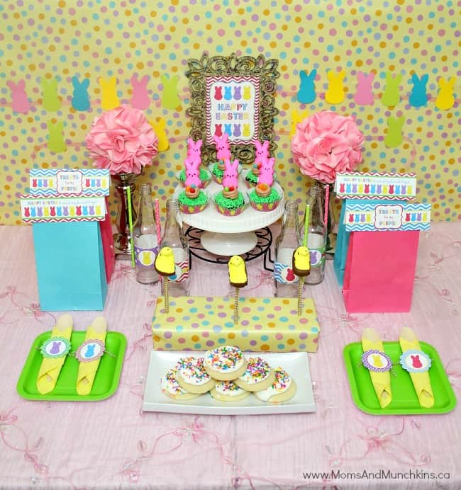 Peeps easter party ideas moms munchkins
