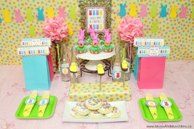 Peeps Easter Party Ideas Moms Amp Munchkins