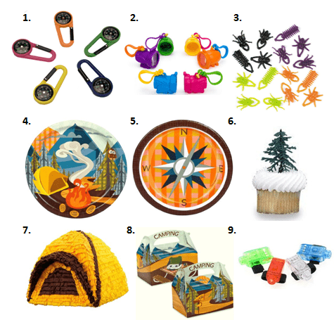 Bon Voyage Camping Party Supplies