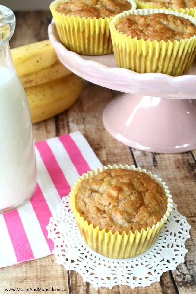 Delicious Muffins - Cheerios Banana Muffins